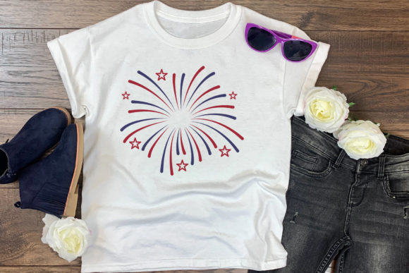 Download Free 4th Of July Firework Cut File Graphic By Craftlabsvg Creative for Cricut Explore, Silhouette and other cutting machines.