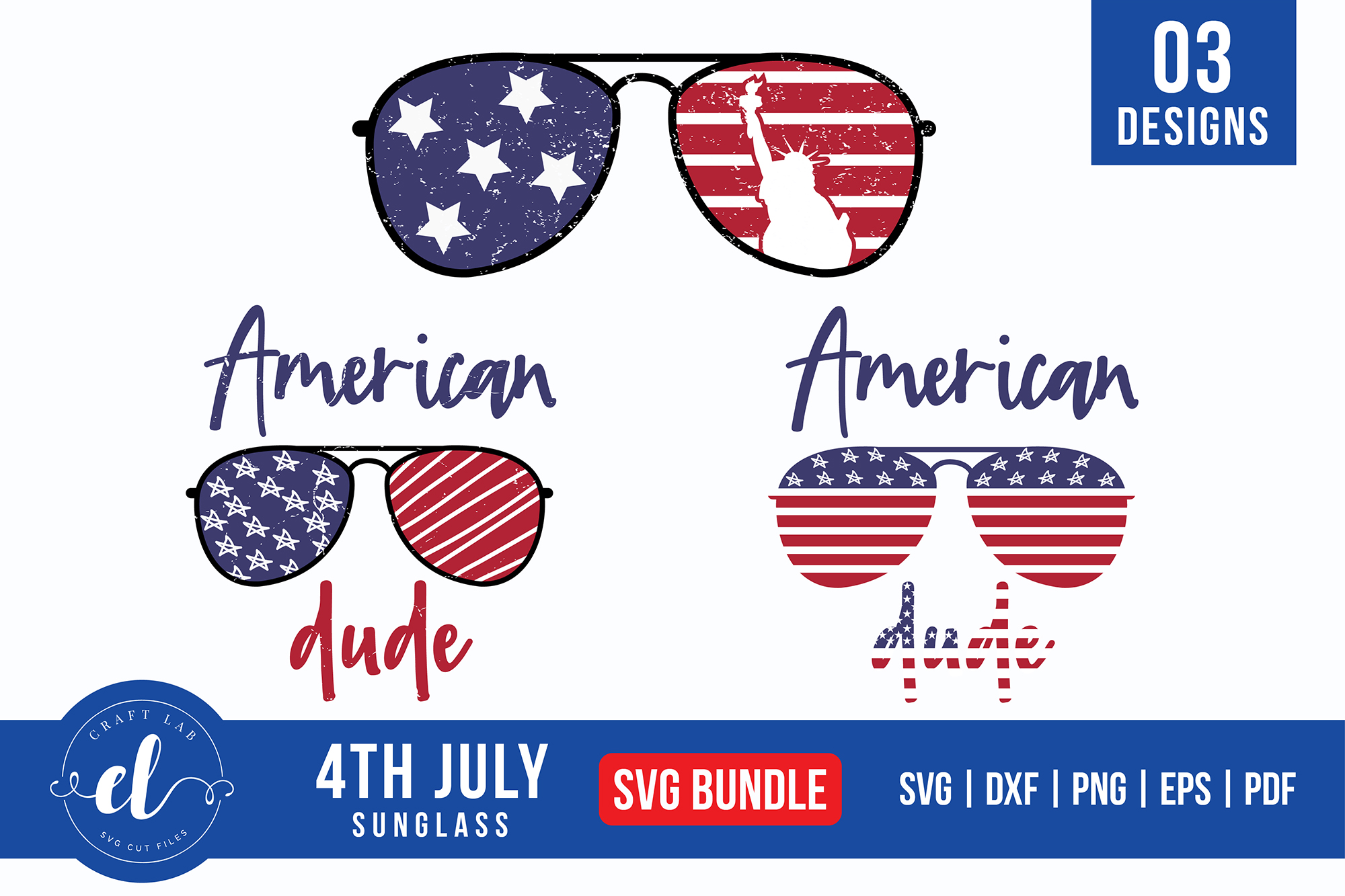 Download Free 4th Of July Sunglass Bundle Graphic By Craftlabsvg Creative for Cricut Explore, Silhouette and other cutting machines.