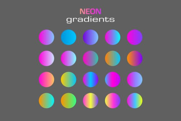 Abstract Sphere Neon Colors Gradients Graphic Illustrations By Kapitosh
