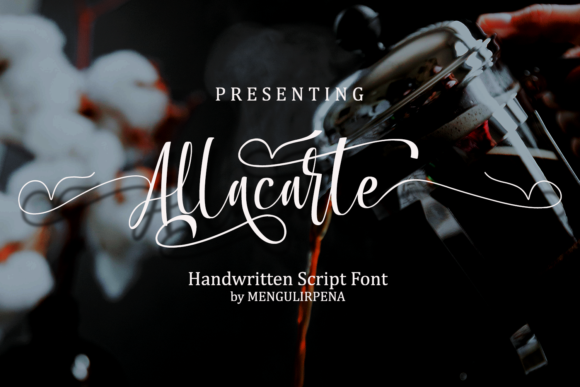 Download Free Allacarte Font By Hawan1647 Creative Fabrica for Cricut Explore, Silhouette and other cutting machines.