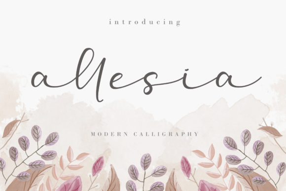 Print on Demand: Allesia Script & Handwritten Font By AEN Creative Studio