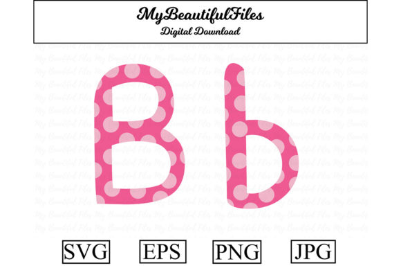 Download Free Alphabet Abc Letter B Graphic By Mybeautifulfiles Creative for Cricut Explore, Silhouette and other cutting machines.