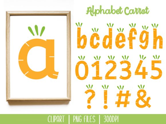 Download Free Alphabet Carrot Clipart Set Graphic By Miss Cherry Designs for Cricut Explore, Silhouette and other cutting machines.