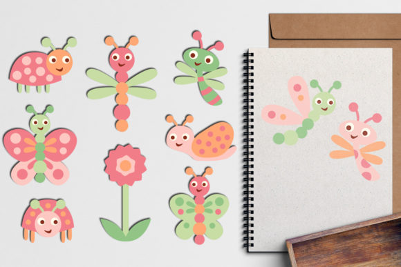 Download Free Baby Bugs Clip Art Bundle Graphic By Revidevi Creative Fabrica for Cricut Explore, Silhouette and other cutting machines.