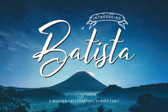 Download Free Batista Font By Nabarya Business Creative Fabrica for Cricut Explore, Silhouette and other cutting machines.