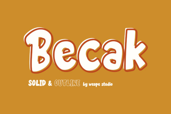Print on Demand: Becak Display Font By Weape Design