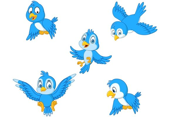 Download Free Blue Birds Clipart Set Graphic Graphic By Tigatelusiji for Cricut Explore, Silhouette and other cutting machines.