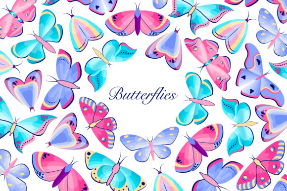 Butterflies.Vector Icons. Graphic Icons By fatamorganaoptic