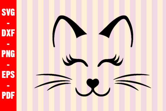 Download Free Cat Face Whiskers Cut File Graphic By Creativeshohor Creative for Cricut Explore, Silhouette and other cutting machines.