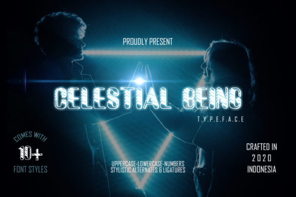Print on Demand: Celestial Being Display Font By Gblack Id