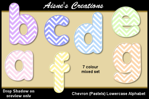 Download Free Chevron Pastels Lowercase Alphabet Graphic By Aisne Creative for Cricut Explore, Silhouette and other cutting machines.