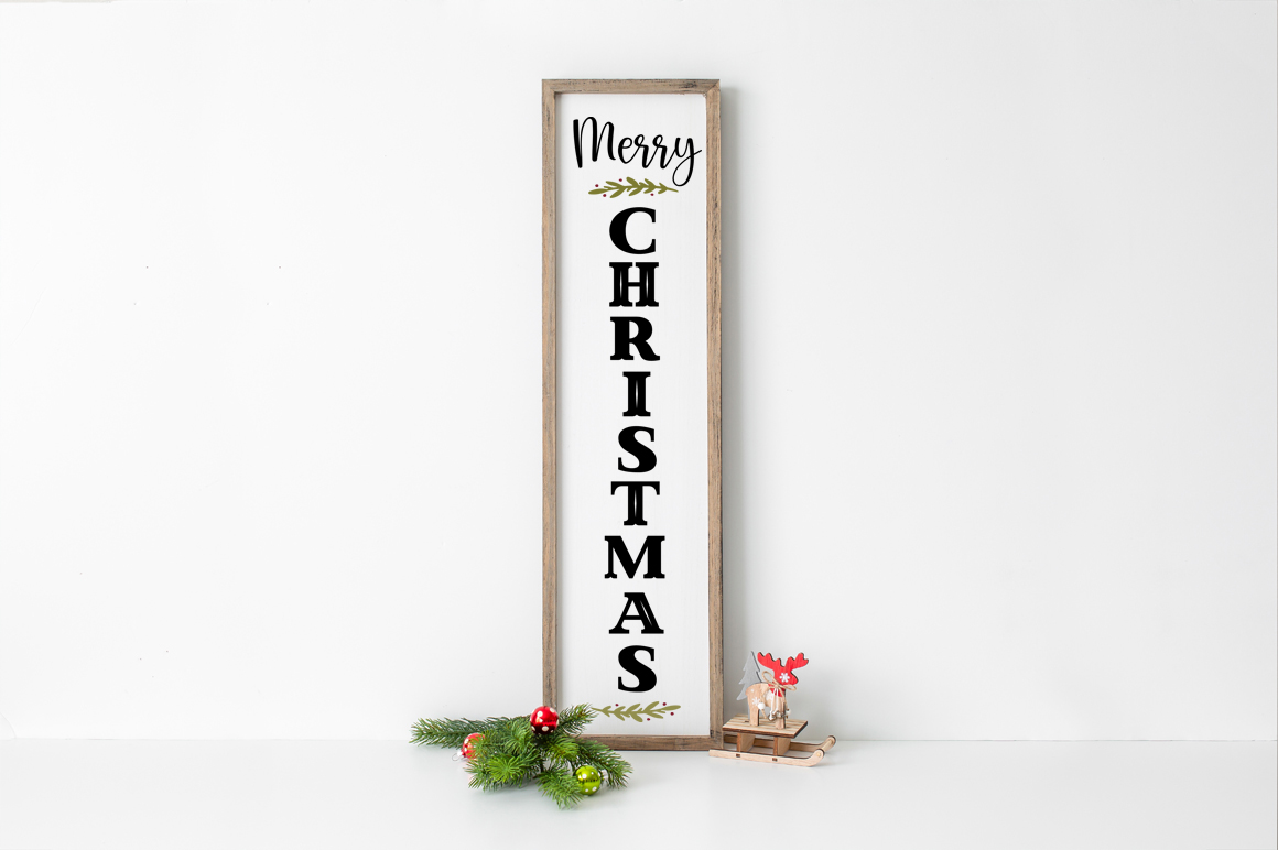 Download Free Christmas Front Porch Tall Sign Svg Graphic By Simply Cut Co for Cricut Explore, Silhouette and other cutting machines.