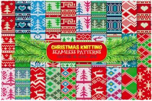 Christmas Seamless Knitting Patterns Graphic Patterns By pixaroma