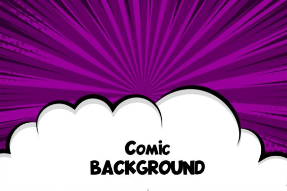 Download Free Comic Cartoon Puff Cloud Speech Bubble Graphic By Kapitosh for Cricut Explore, Silhouette and other cutting machines.