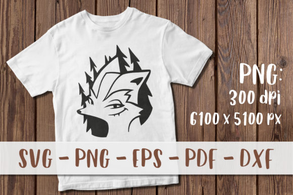 Download Free Cute Fox Cartoon T Shirt Print Graphic By Greenwolf Art for Cricut Explore, Silhouette and other cutting machines.