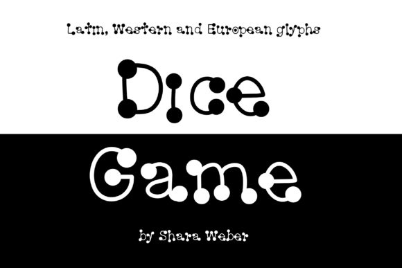 Print on Demand: Dice Game Decorative Font By Sharasfonts