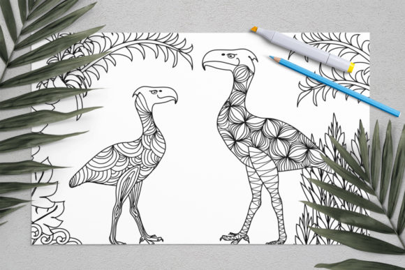 Download Free Dinosaurs Coloring For Print Dinosaur Graphic By Elenazlataart for Cricut Explore, Silhouette and other cutting machines.