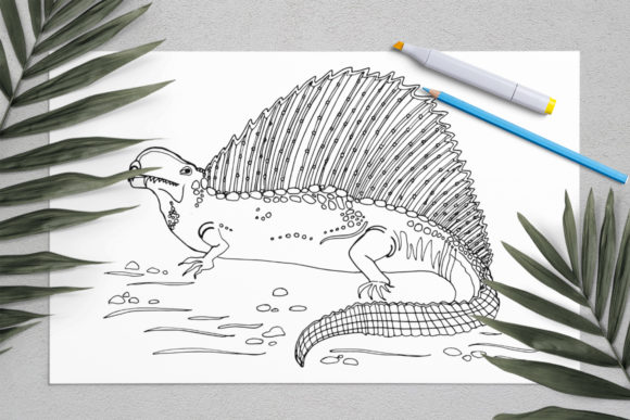Dinosaurs Coloring for Print | Dinosaur Graphic Coloring Pages & Books Kids By ElenaZlataArt - Image 8