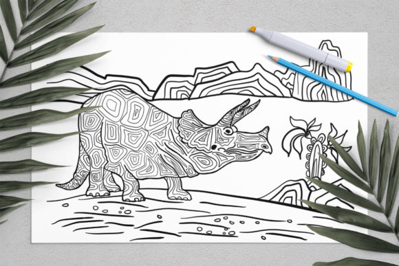 Dinosaurs Coloring for Print | Dinosaur Graphic Coloring Pages & Books Kids By ElenaZlataArt - Image 9