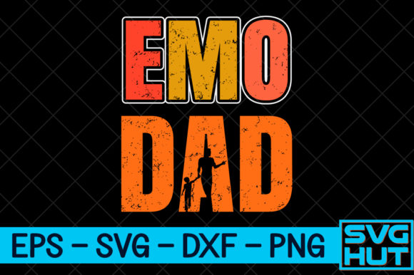 Download Free Emo Dad Craft Design Graphic By Svg Hut Creative Fabrica for Cricut Explore, Silhouette and other cutting machines.