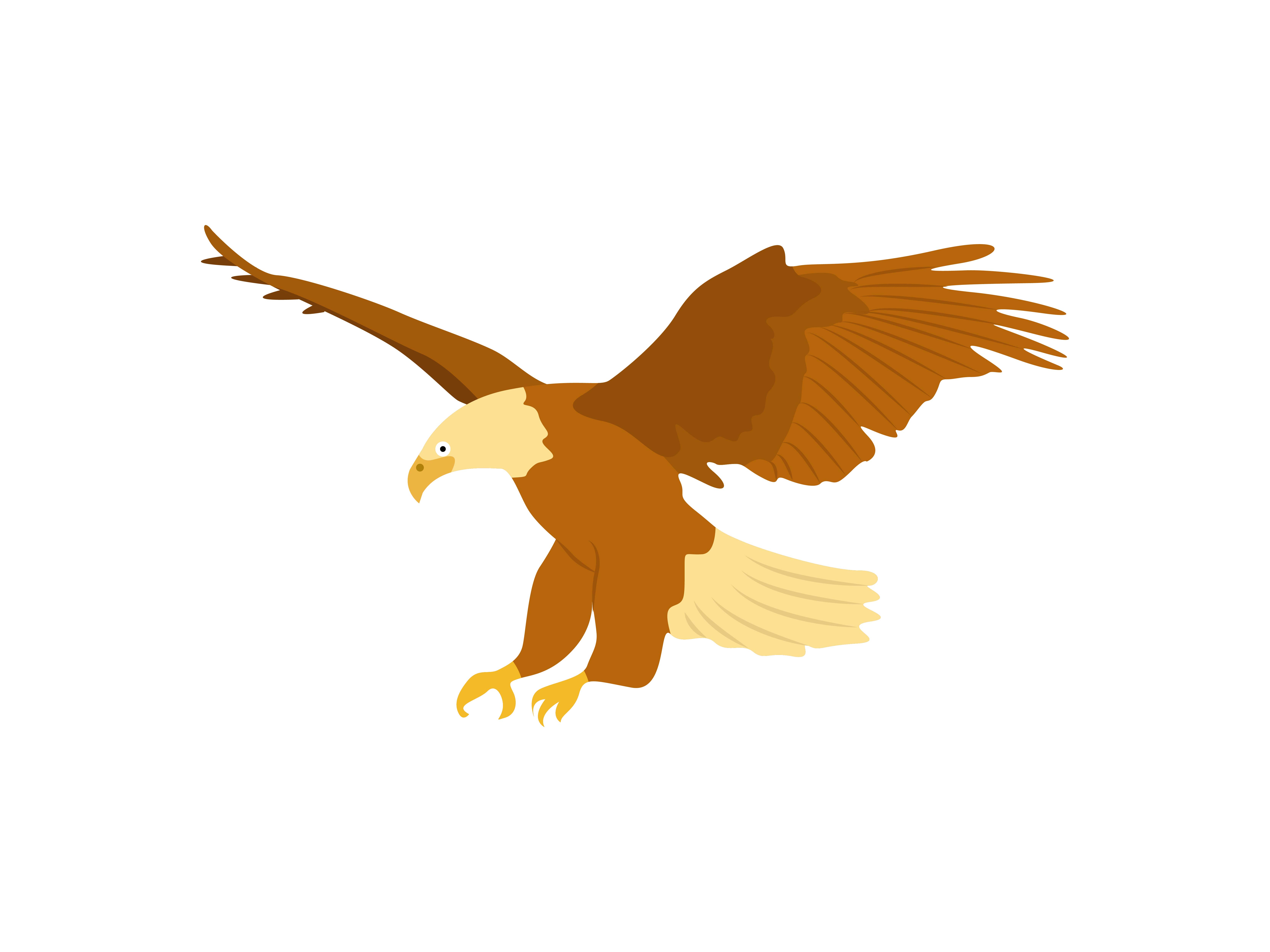 Download Free Eagle Landing Bird Animal Graphic By Archshape Creative Fabrica for Cricut Explore, Silhouette and other cutting machines.