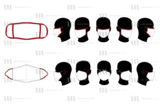 Download Free Face Masks Vector Mockup Template Graphic By Markanthonymedia for Cricut Explore, Silhouette and other cutting machines.