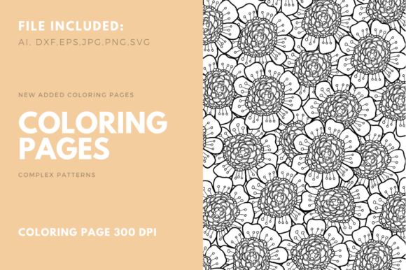 Download Free Flower Coloring Page For Kdp Graphic By Stanosh Creative Fabrica for Cricut Explore, Silhouette and other cutting machines.