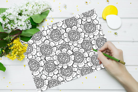 Print on Demand: Flower Coloring Page for KDP Graphic Coloring Pages & Books Adults By stanosh - Image 2