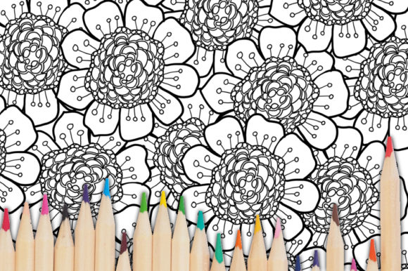 Print on Demand: Flower Coloring Page for KDP Graphic Coloring Pages & Books Adults By stanosh - Image 3