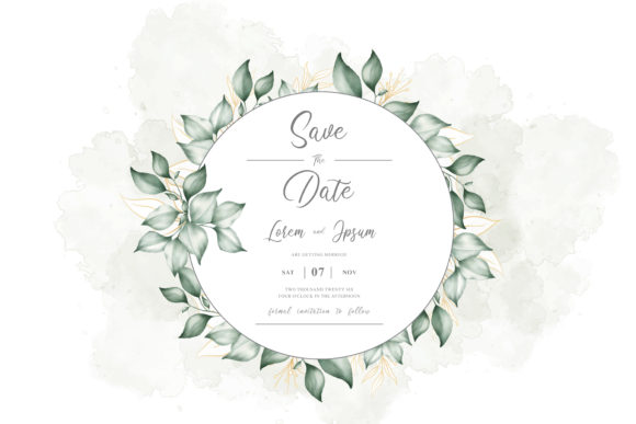 Download Free Foliage Watercolor Floral Frame Graphic By Federiqoend for Cricut Explore, Silhouette and other cutting machines.
