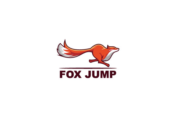 Download Free Fox Jump Logo Design Illustration Grafico Por Burhan Bn006 for Cricut Explore, Silhouette and other cutting machines.