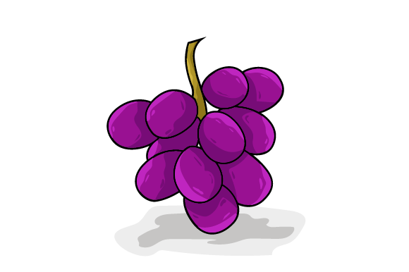 Grape Vector Illustration Graphic Food & Drinks By ninik.studio