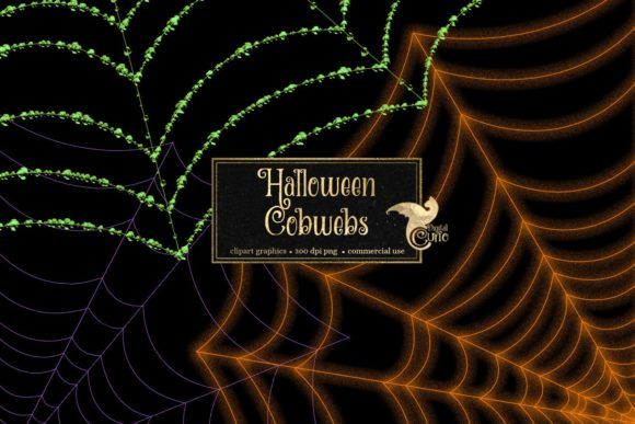 Print on Demand: Halloween Cobweb Overlays Graphic Illustrations By Digital Curio - Image 2