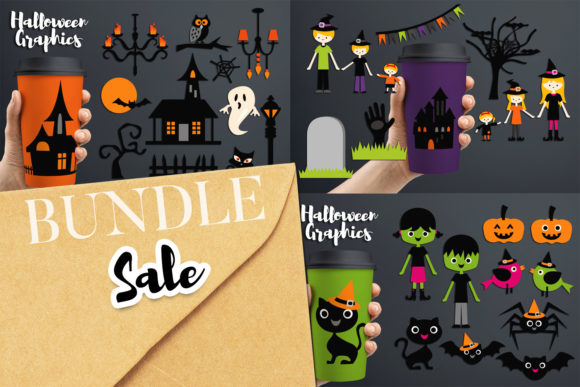 Halloween Family Party Bundle Graphic