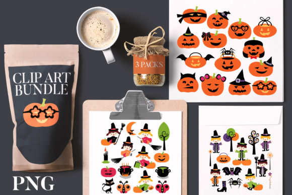 Print on Demand: Halloween Boys Girls Bundle Graphic Illustrations By Revidevi