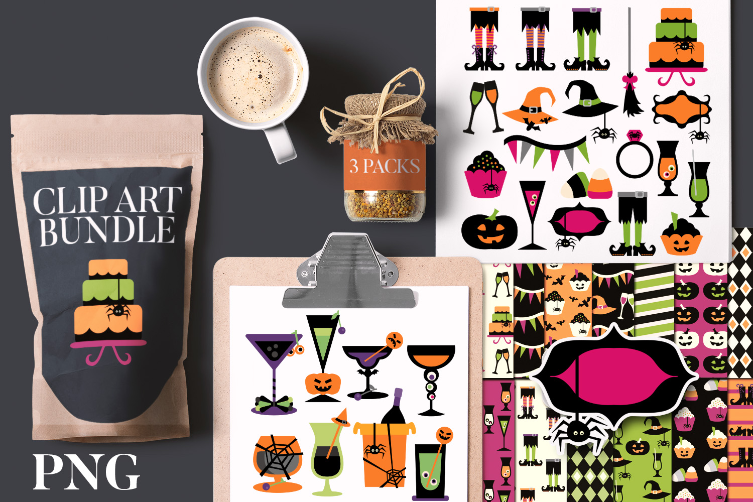 Download Free Halloween Kids Party Bundle Graphic By Revidevi Creative Fabrica for Cricut Explore, Silhouette and other cutting machines.