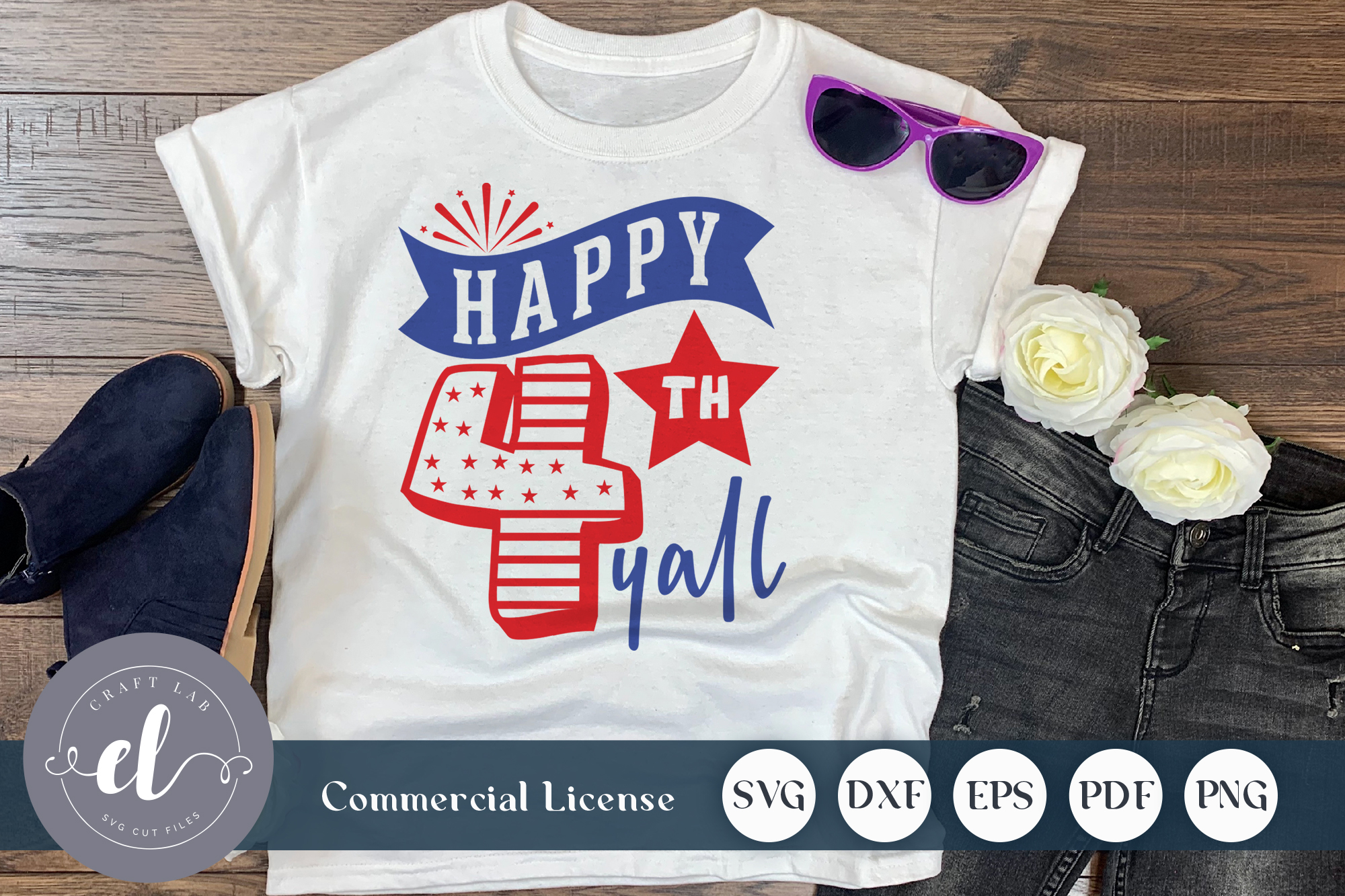 Download Free Happy 4th Of Y All Graphic By Craftlabsvg Creative Fabrica for Cricut Explore, Silhouette and other cutting machines.