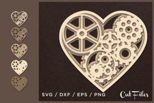 Heart Multilayer Cut File Graphic 3D SVG By 2dooart