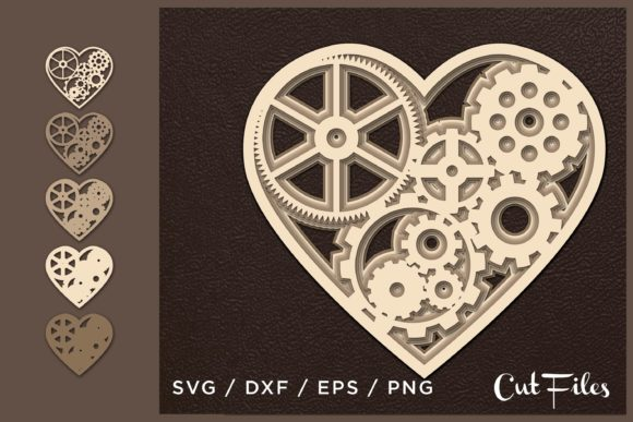 Download Free Heart Multilayer Cut File Graphic By 2dooart Creative Fabrica for Cricut Explore, Silhouette and other cutting machines.