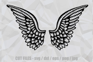 Print on Demand: Heavenly Angelic Wings Graphic Crafts By Prawny