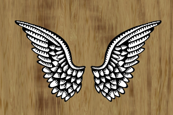 Heavenly Angelic Wings Graphic Item