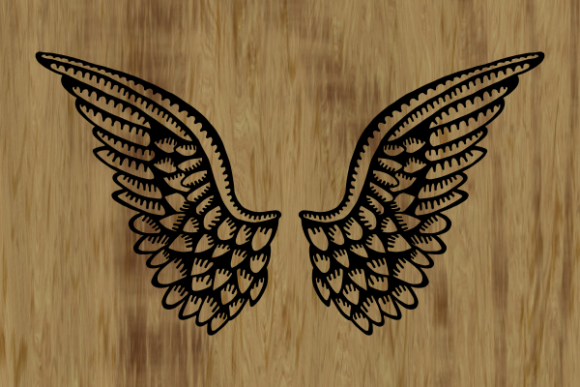 Heavenly Angelic Wings Graphic Design