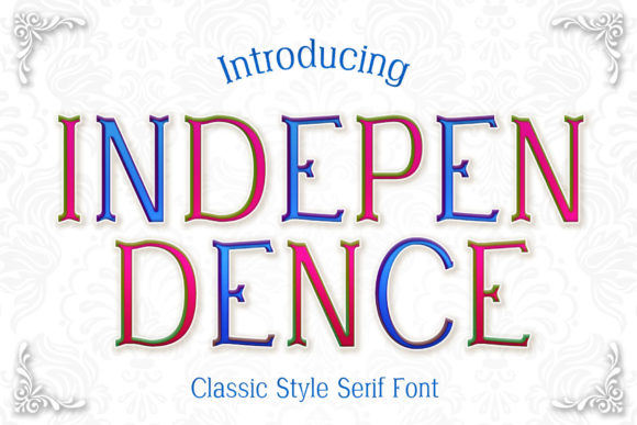 Print on Demand: Independence Serif Font By numnim