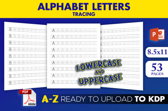 Print on Demand: KDP Interior Alphabet Letters Tracing Graphic KDP Interiors By Beast Designer