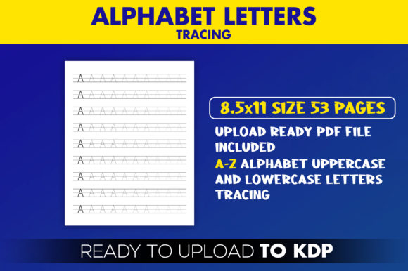 Kdp Interior Alphabet Letters Tracing Graphic By Beast Designer