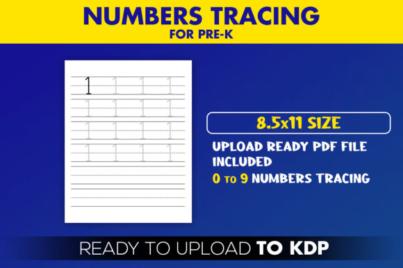 KDP Interior Numbers Tracing for Pre-k Graphic KDP Interiors By Beast Designer - Image 2