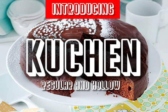 Print on Demand: Kuchen Display Font By vladimirnikolic