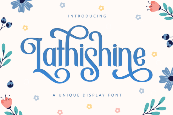 Print on Demand: Lathishine Display Font By Holydie Studio