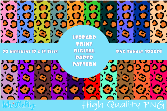 Download Free Leopard Print Pattern Leopard Pattern Graphic By Whistlepig for Cricut Explore, Silhouette and other cutting machines.