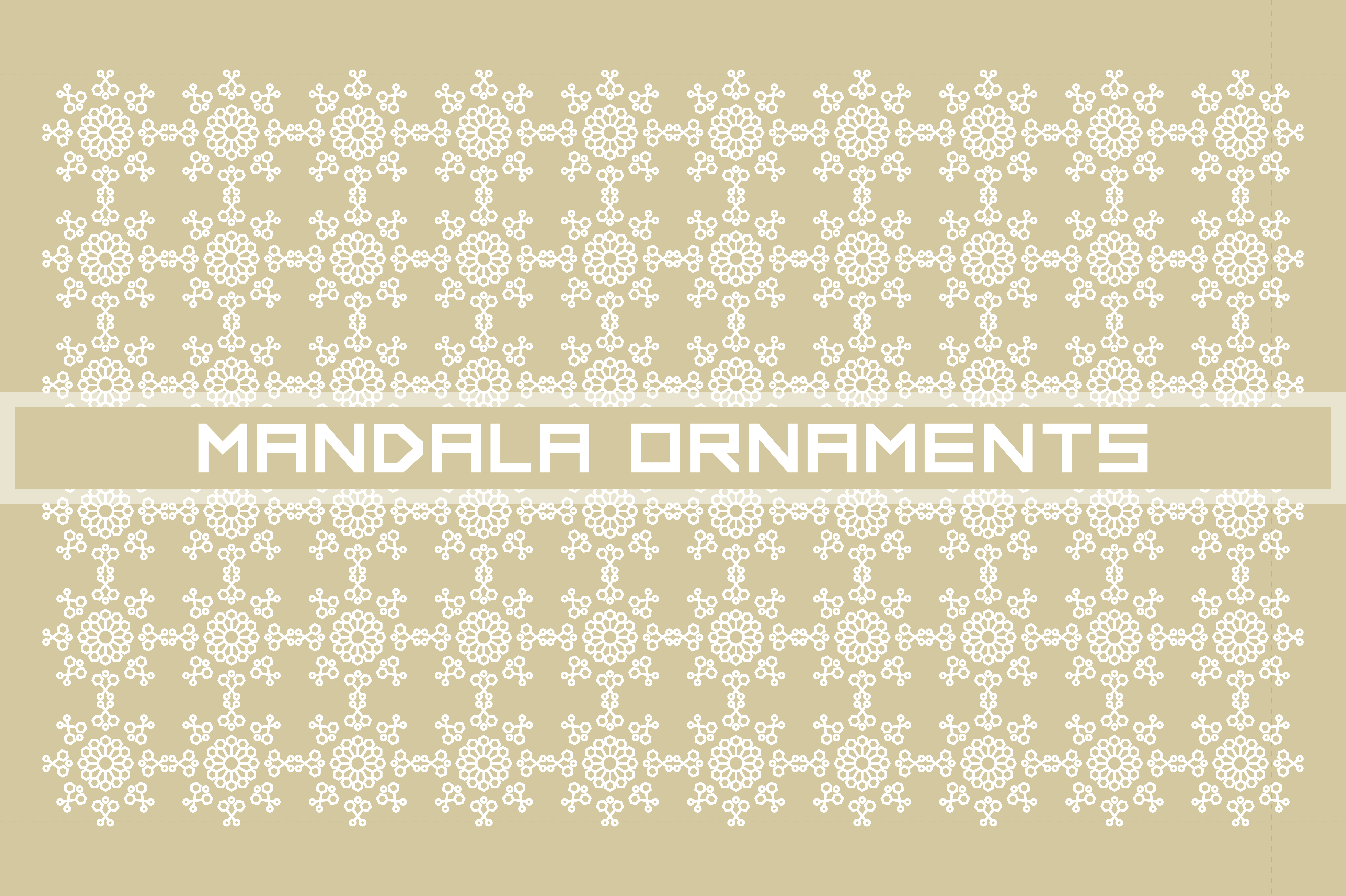 Download Free Mandala Ornaments Pattern Graphic By Highvoice Creative Fabrica for Cricut Explore, Silhouette and other cutting machines.